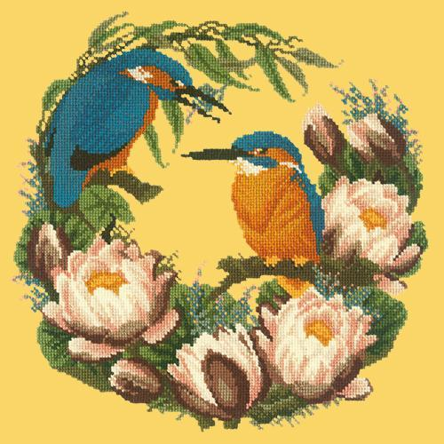 Water Lilies Needlepoint Kit Elizabeth Bradley Design Sunflower Yellow