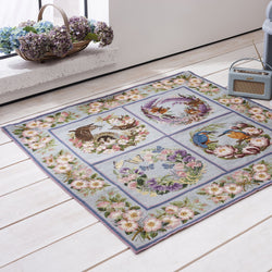 Wild Rose & Forget-Me-Not Border Carpet Border Elizabeth Bradley