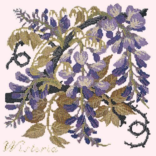 Wisteria Needlepoint Kit Elizabeth Bradley Design Cream