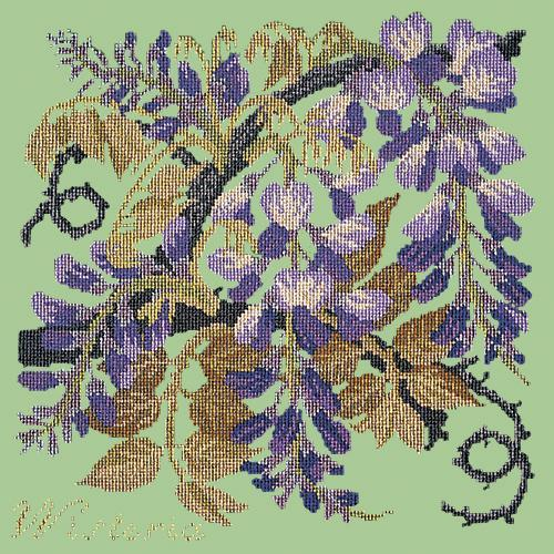 Wisteria Needlepoint Kit Elizabeth Bradley Design Pale Green
