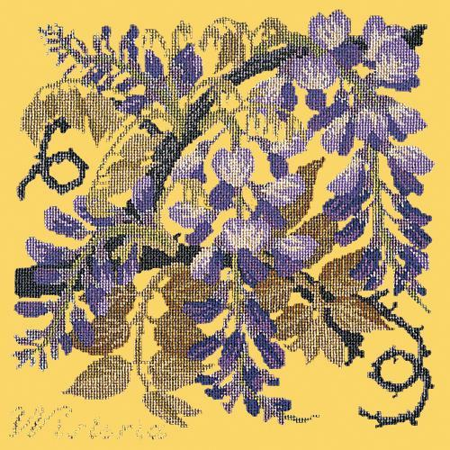 Wisteria Needlepoint Kit Elizabeth Bradley Design Sunflower Yellow
