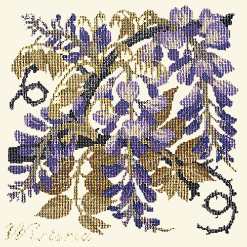 Wisteria Needlepoint Kit Elizabeth Bradley Design Winter White