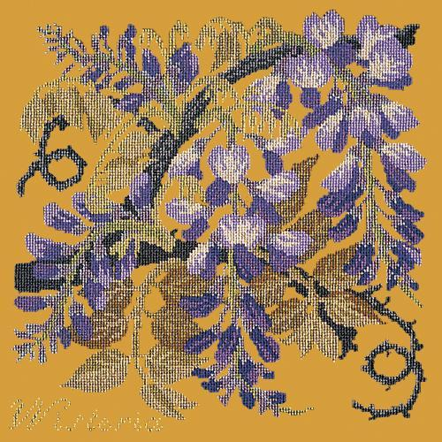 Wisteria Needlepoint Kit Elizabeth Bradley Design Yellow