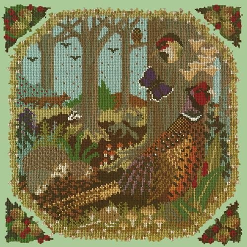 Woodland Needlepoint Kit Elizabeth Bradley Design Pale Green