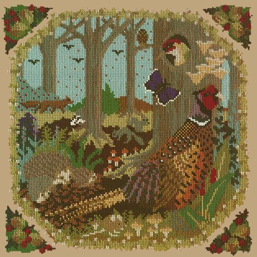 Woodland Needlepoint Kit Elizabeth Bradley Design Sand