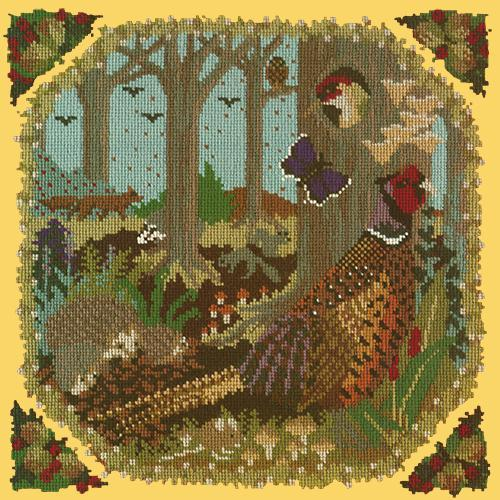 Woodland Needlepoint Kit Elizabeth Bradley Design Sunflower Yellow