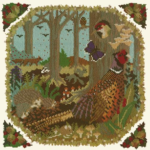 Woodland Needlepoint Kit Elizabeth Bradley Design Winter White