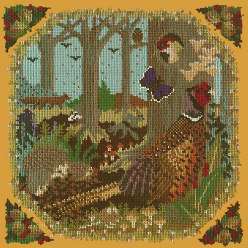 Woodland Needlepoint Kit Elizabeth Bradley Design Yellow