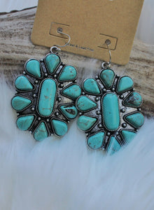 Head Concho Turquoise Earrings