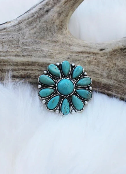 Dolly's Turquoise Adjustable Ring