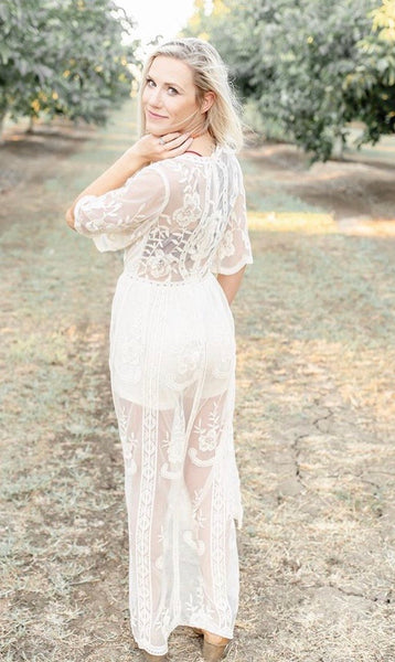 Sandi's Summer Nights Lace Maxi Dress