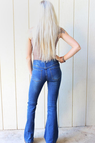 Mollie's Dark Denim Flare Jeans