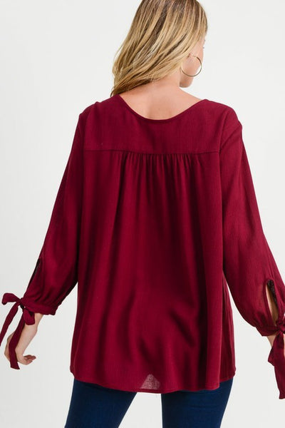 Winter Merlot Blouse