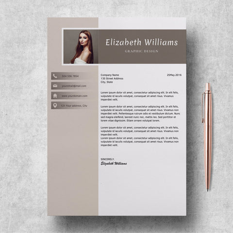 Editable Resume Templates | CV Format Word | Elizabeth Williams