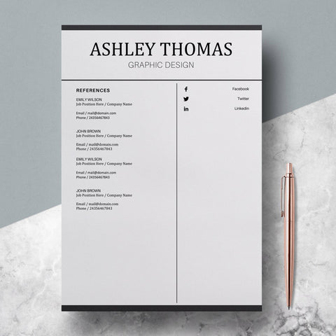 Resume Template Cover Letter