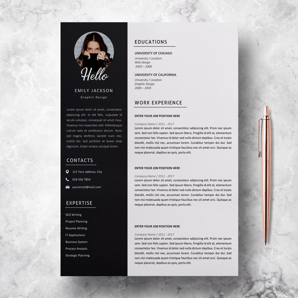 Modern Resume Template from cdn.shopify.com