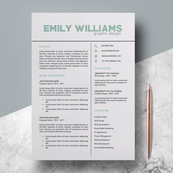 Color Resume Template