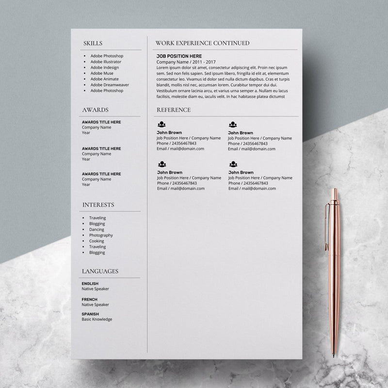 Resume Template Nurse