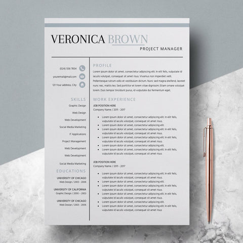 Resume Template for Teachers