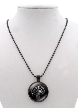 Collana queen of spades Black
