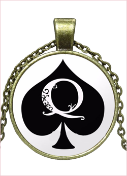 Collana queen of spades Bronzo
