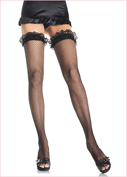 GARTER FISHNET THIGH HIGHS