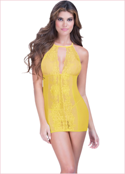 Halter Babydoll with Thong, Babydoll Dress