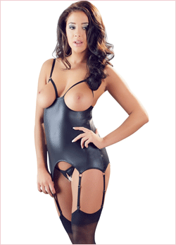 Body fetish in pelle Cotelli collection