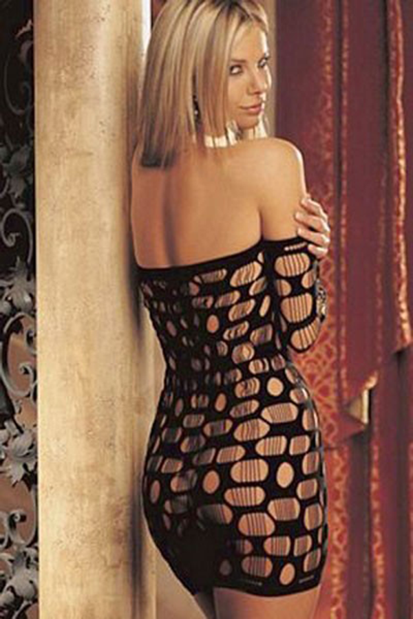 long-sleeves-open-holes-black-chemise-dress