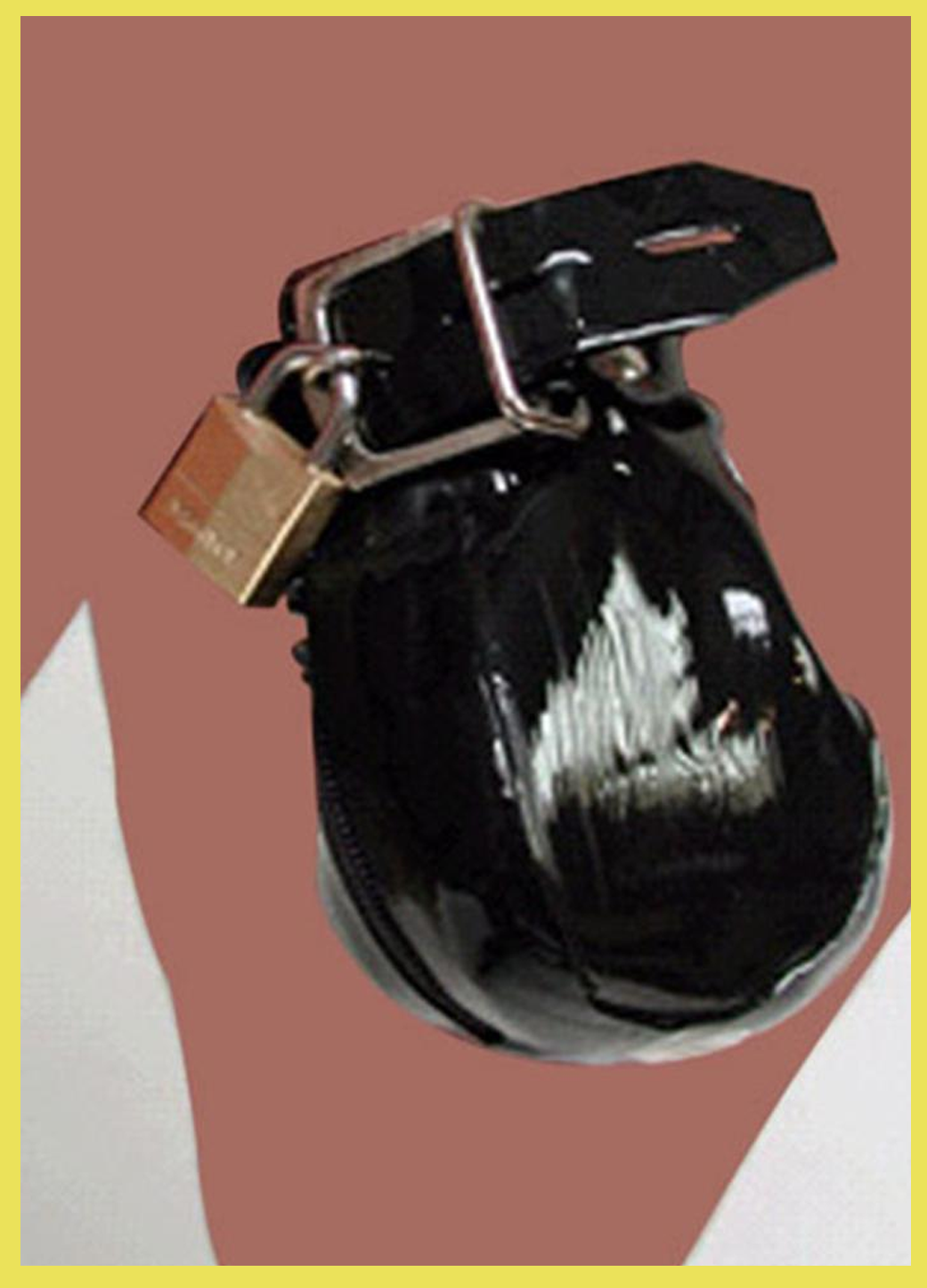 Leather Male Chastity Cage