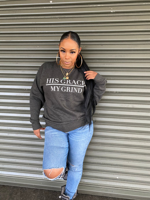 His Grace/My Grind Unisex Crewneck Sweaters