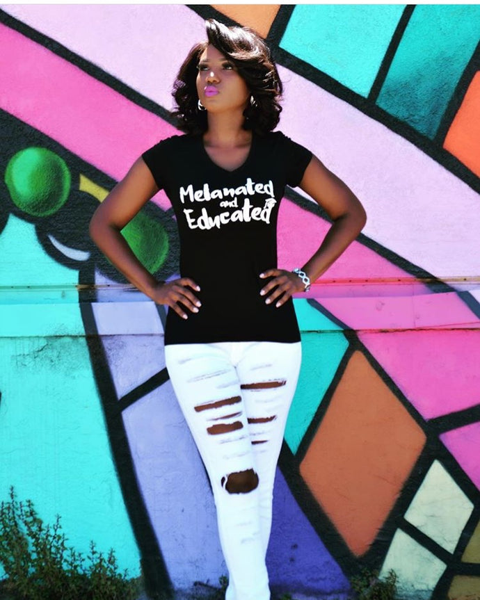 Melanated and Educated Tee