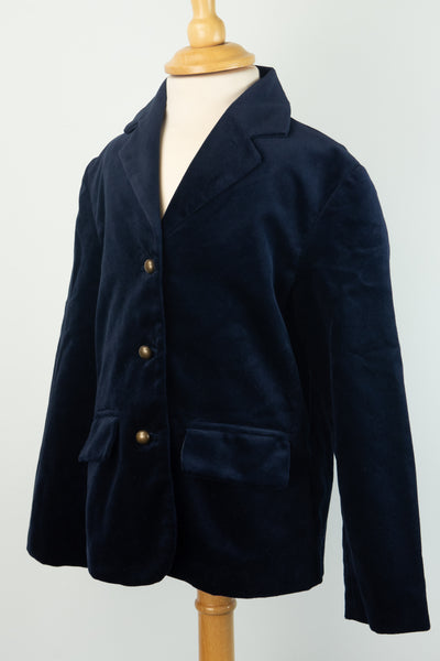 Marmalade and Mash - Navy Blue Velvet Jacket