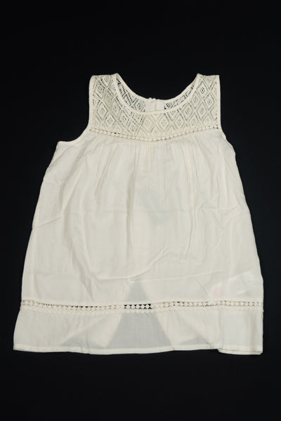 3 Pommes - Girls Cream Cotton Lace Top