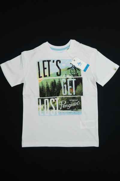 Penguin: Boys White T Shirt