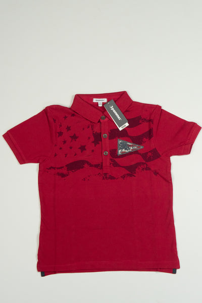 3 Pommes - Boys Red Roots Polo Shirt