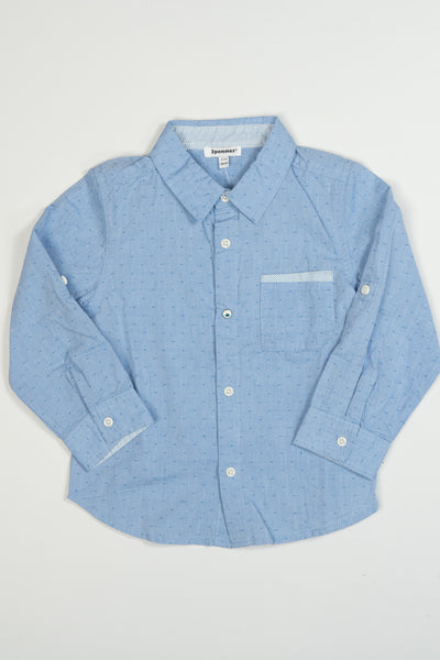 3 Pommes - Blue Boys Long Sleeve Shirt