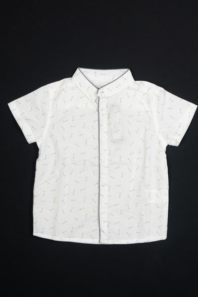 3 Pommes - Boys White Shirt