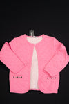 3 Pommes - Pink Girls Quilted Jacket