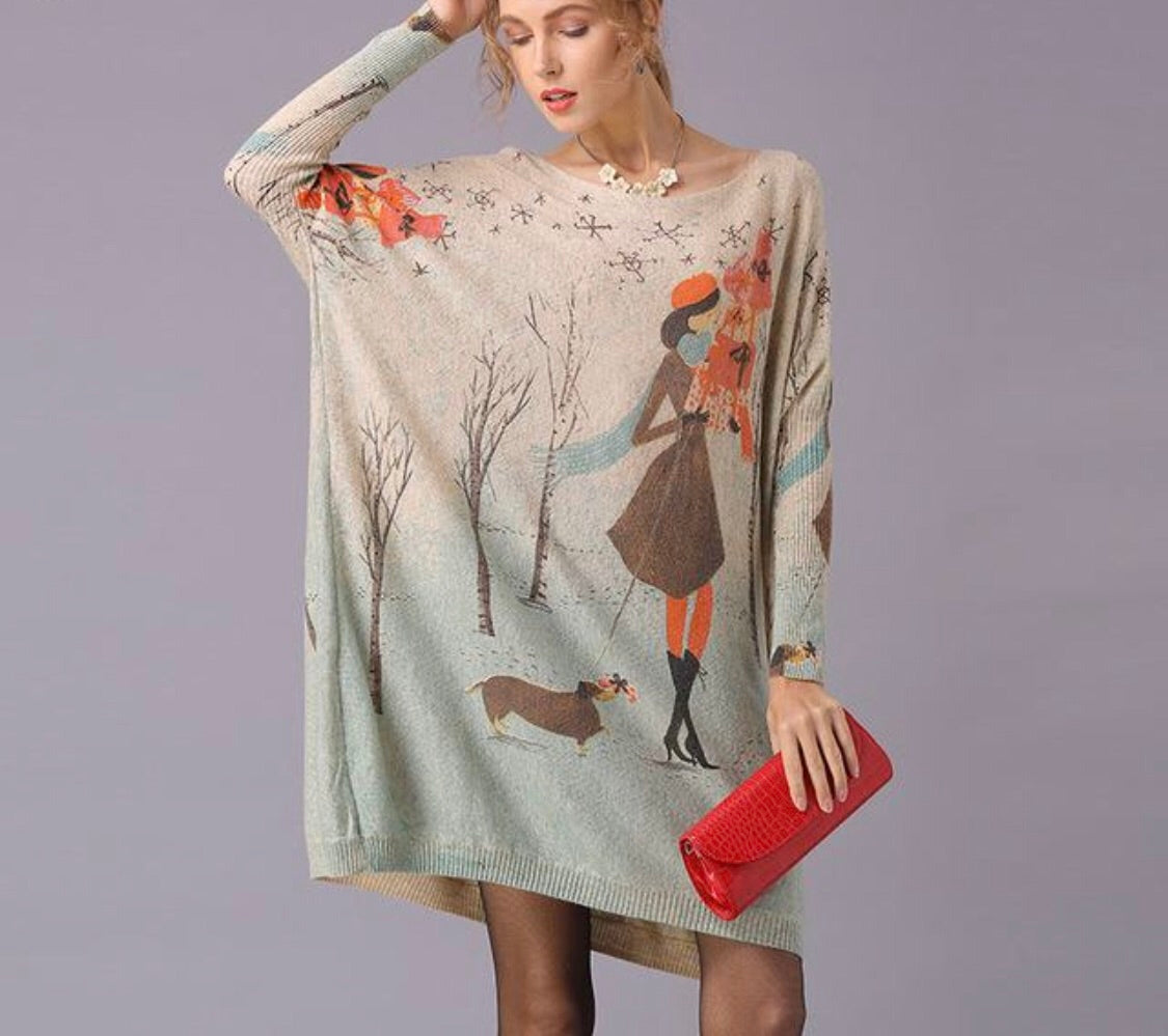 Cartoon Printed Sweater