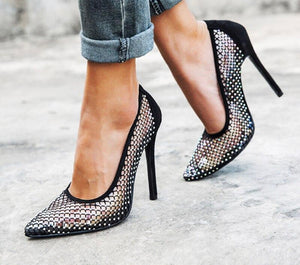 Glitter Mesh Party Shoes