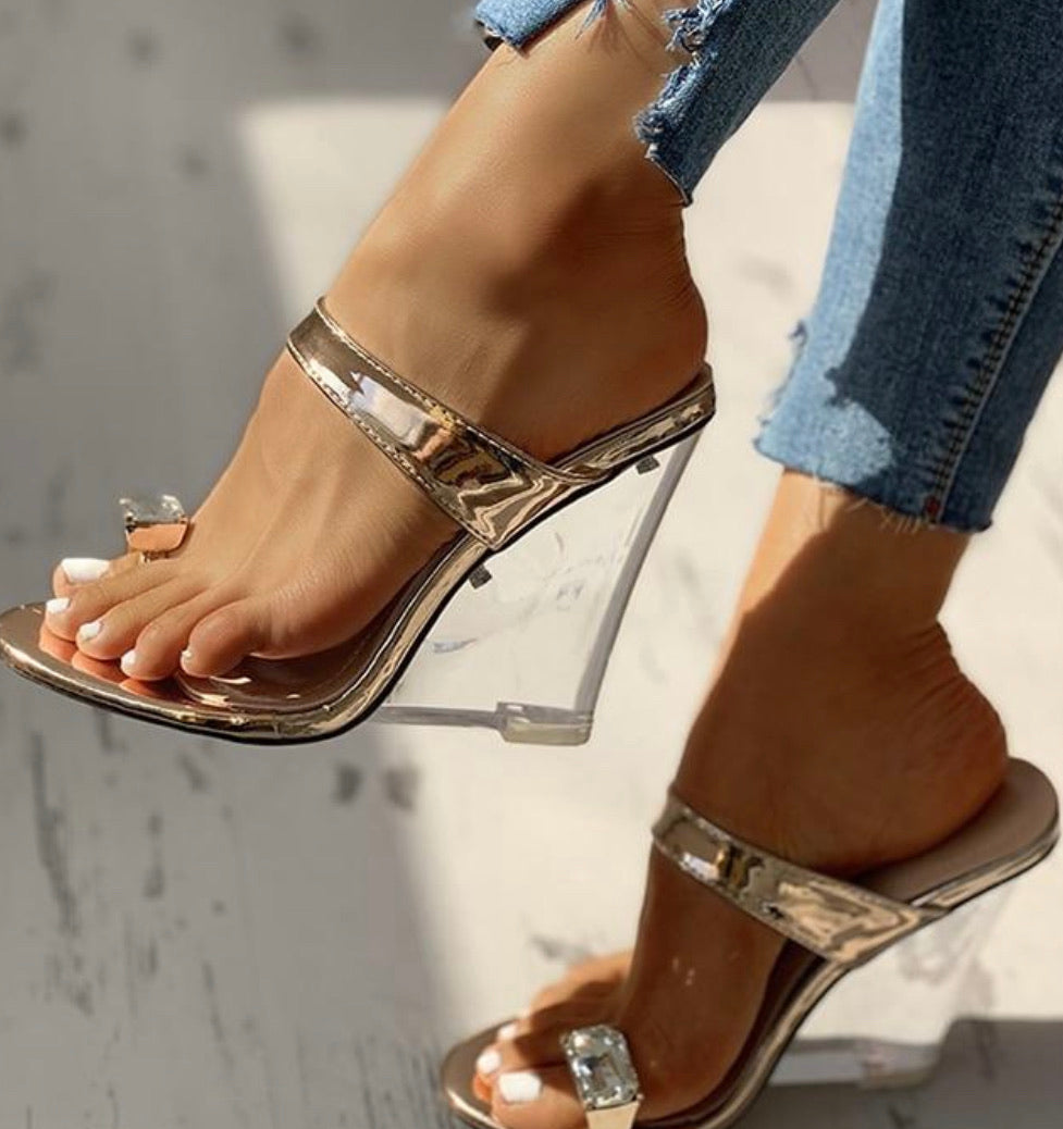 Transparent Wedge Heels