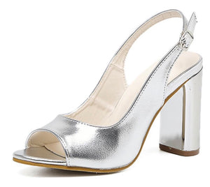 Comfortable Wedding Hoof Thick Heels