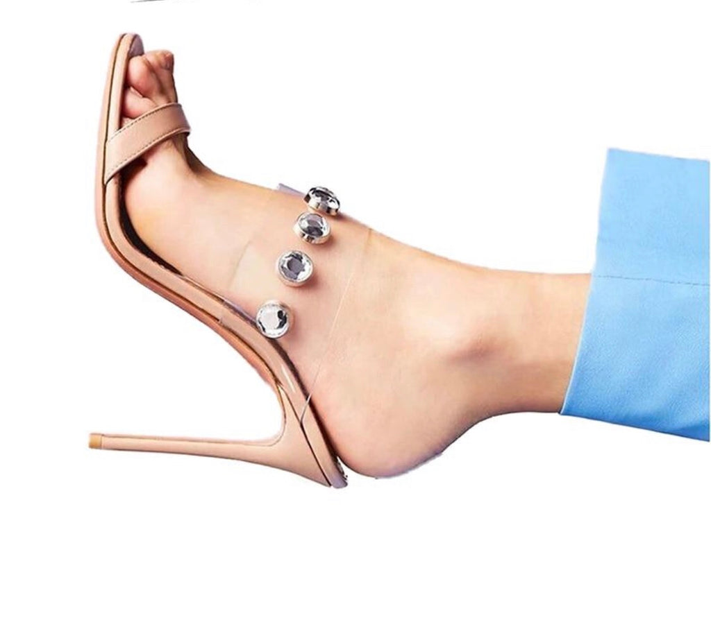 Knish's Clear Mule Slingback