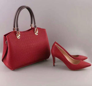 Knish's Pumps With Handbag Sets