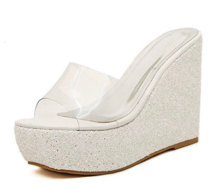 Knish's Transparent  Wedge Slipper (BOGO)