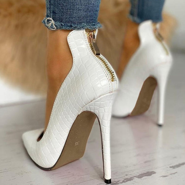 Knish' Gold Zipper Heel