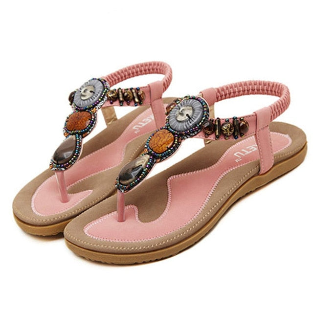 Knish's Sweet Beaded Sandals