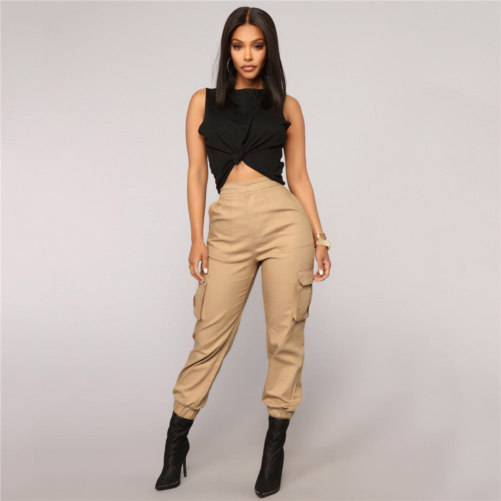 Cargo Pants Casual Loose Chic