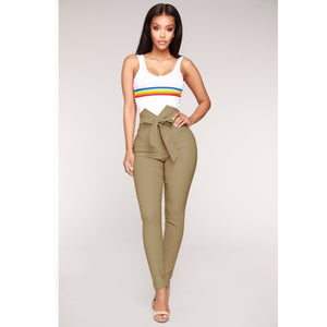 Knish's Elastic High Waist  Pants